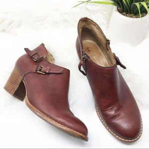 Schuler and sons leather ankle booties